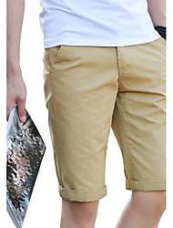 Hombre Tallas Grandes Delgado Chinos Shorts Pantalones,Vacaciones Casual/Diario Playa Chic de Calle Cosecha Sencillo Un Color Tiro Bajo