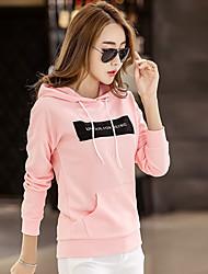 хань плесень знак весной 2017 новый бренд женщин&# 39, S письма с капюшоном свитер женский взгляд