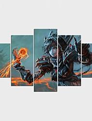 Отпечатки на холсте Люди Мультипликация Стиль Modern,5 панелей Холст Любая форма Печать Искусство Декор стены For Украшение дома