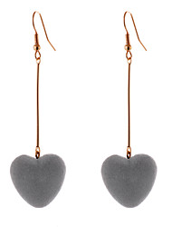 Lureme Simple Jewelry Creative Drop Heart Velvet Earrings for Women Girls