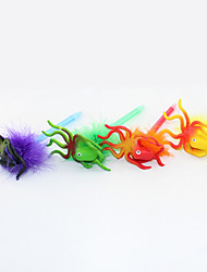 New Three-dimensional Plastic/Hair Ball Cartoon Octopus Craft BallPoint Pen