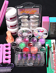21Pcs/Set Glitter Powder Modification Manicure DIY Kit DIY Kit Nail Art Decoration Set