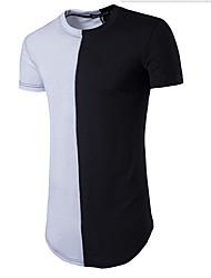 Solide Einfach Lässig/Alltäglich T-shirt,Rundhalsausschnitt Kurzarm Blau Rot Weiß Grau Orange Baumwolle