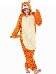 Kigurumi Pijamas Tiger Leotardo/Pijama Mono Festival/Celebración Ropa de Noche de los Animales Halloween Naranja RetazosDisfraces de