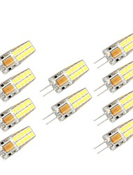 10PCS G4 20LED SMD2835 AC/DC12V 7W 1000lm  Warm White/White High Quality Double pin Waterproof Lamp