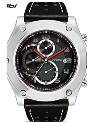Masculino Relógio Esportivo Relógio de Pulso Quartzo Calendário Impermeável Cronômetro Resistente ao Choque Couro BandaCasual Legal