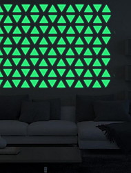 Cartoon Triangle Individuality Luminous Wall Stickers Vinyl Material Home Decoration