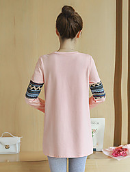 Maternity Autumn new embroidery + printing loose T-shirt long section of pregnant women pregnant women jacket Korean version of the lovely autumn