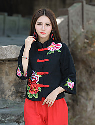 Factory Direct 2016 National Wind exquisite embroidery cotton jacquard jacket