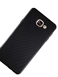 For Samsung Gaalxy A7(2017) A5(2017) Case Cover Other Back Cover Solid Color Soft Carbon Fiber A3(2017) A7(2016) A5(2016) A3(2016) A7 A5 A3