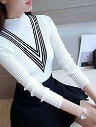 знак ездить с длинными рукавами пуловер свитер женский короткий параграф в пределах половины высокий воротник рубашки тонкий толстый
