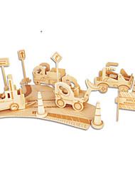 Jigsaw Puzzles DIY KIT Building Blocks 3D Puzzles Educational Wooden Construction Site Building Blocks DIY Toys Famous buildings