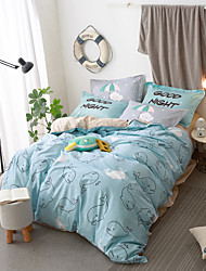 lovely shark cartoon Duvet Cover Sets 100% Cotton Bedding Set Queen/Double/Full Size