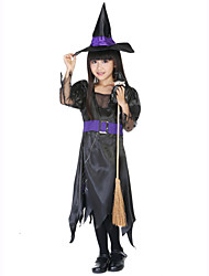 Cosplay Costumes Wizard/Witch Festival/Holiday Halloween Costumes Black Solid Dress Hats Carnival Kid Terylene Polyester