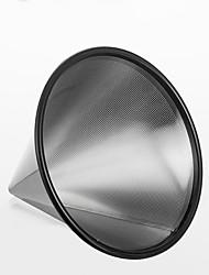 filtro de café de aço inoxidável, 2 xícaras de gotejamento cafeteira reutilizável