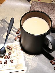 Vintage Drinkware, 420 ml Portable Ceramic Coffee Milk Coffee Mug Travel Mugs