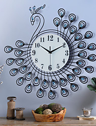 Modern/Contemporary Houses European Simple Modern Creative Peacock Wall ClockNovelty Polyresin Indoor Clock