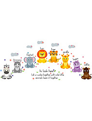 Wall Stickers Wall Decals Style Cute Animals PVC Wall Stickers