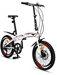 Folding Bike Cycling 7 Speed 20 Inch SAIGUAN EF-51 Double Disc Brake Non-Damping Non-Damping Anti-slip Steel