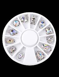 1PC Nail Act The Role Ofing Is Tasted Alloy Special White AB Nail Art Decorations 12 Paragraph