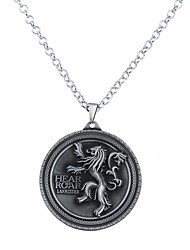 Men's Women's Pendant Necklaces Jewelry Circle Alloy Circular Unique Design Logo Style Dangling Style Jewelry For