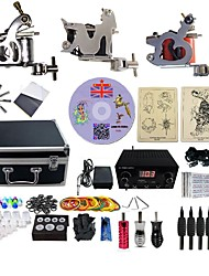 Complete Tattoo Kit 3  G3A15A5A13  machines liner & shader Lion LED power supply Ink Cups