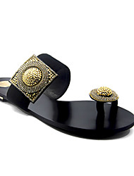 Women's Sandals Spring Summer Fall Toe Ring Suede Wedding Office & Career Dress Casual Party & Evening Flat HeelRhinestone Crystal