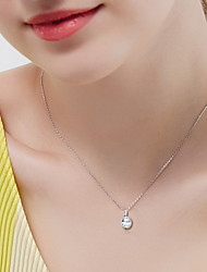 Pendant Necklaces Sterling Silver Zircon Cubic Zirconia Basic Silver Jewelry Daily Casual 1pc