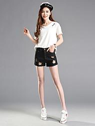 unterzeichnen Jeans-Shorts 2017 Frühling und Sommer Größe Frauen Fett mm Trepanationsloch heißen Hosen der koreanischen Studenten