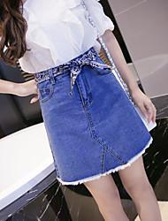 знак 2017 последних стиральные джинсовых юбок, а линия юбка с поясом