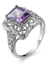 Charming Purple Zircon Stone Ring Retro  Filled Crystal Bead Finger Rings For Women Bohemian Anel Feminino