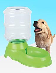 cão tigelas e garrafas de água pet tigelas e alimentação de plástico verde 2500ml