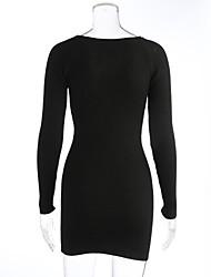 Damen Standard Pullover-Lässig/Alltäglich Einfach Solide Blau Rot Schwarz Rundhalsausschnitt Langarm Kaschmir Herbst Winter Mittel
