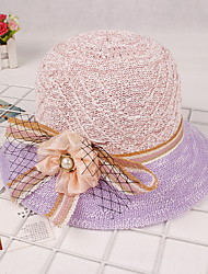 Travel Baseball Cap Sun Hat Sunscreen Ladies Pearl Flower Two-color Dome Straw