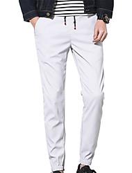 Grandes Tailles Ample Chino Pantalon,simple Actif Décontracté / Quotidien Sportif Vacances Couleur Pleine Taille Normale ElasticitéCoton