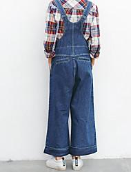 goldenen Pavillon japanische Präzision viel koreanische Denim Overall siamesische Hose gerade Jeans weibliche Bördeln zu schaffen