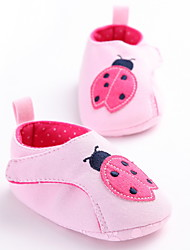 Baby Flats First Walkers Fabric Spring Fall Casual Outdoor Walking First Walkers Low Heel White Gray Blushing Pink Flat