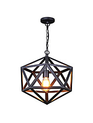 Pendant Light ,  Retro Painting Feature for Designers Metal Living Room Bedroom Dining Room Study Room/Office Entry