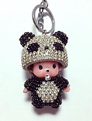 Dolls Key Chain Toys Leisure Hobby Black Crystal