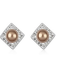 Women's Stud Earrings Pearl Natural Pearl Alloy Jewelry Jewelry For Daily