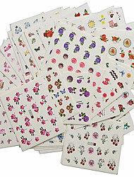 1set 48pcs Mixed Nail Art Sticker Full Cover Colorful Flower DIY Water Transfer Decals Makeup Beauty Nail Art Design A289-336