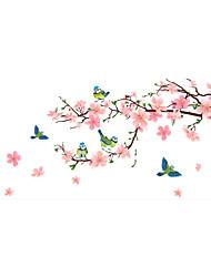 Животные Мода Цветы Наклейки Простые наклейки Декоративные наклейки на стены,Винил материал Украшение дома Наклейка на стену