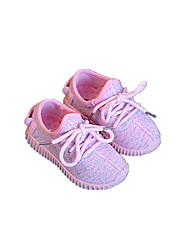 Baby Flats Summer Comfort Fabric Outdoor Casual Flat Heel Lace-up Gray Pink Walking