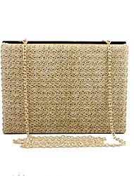 L.WEST Women's Elegant Restoring Ancient Ways Straw Evening Bag