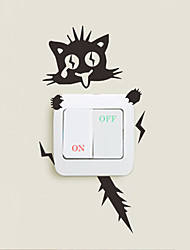 Wall Stickers Wall Decals Style Funny Cat PVC Wall Stickers