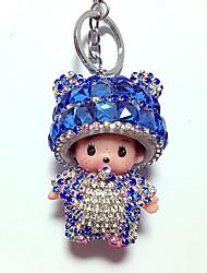 Dolls Key Chain Toys Leisure Hobby Blue Crystal