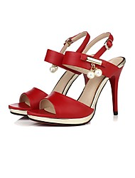 Women's Sandals Summer Other Slingback Club Shoes Gladiator Comfort Novelty Ankle Strap CowhideWedding Office & Career Party & Evening