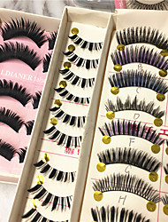 30 pairs of various styles Fake Eyelashes are mixed in a variety Casually shipped