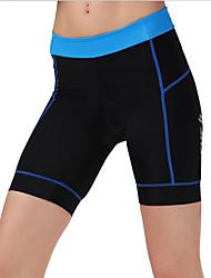 cheji® Pantalones de Ciclismo Mujer Bicicleta Cortados Pantalones Cortos Acolchados Prendas de abajoTranspirable Secado rápido Compresión