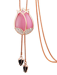 Tulips are long sweater fashion necklace female flower necklace chain joker 0467 #